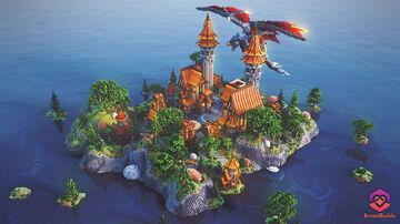 Dragon Orange Village Spawn ❯ Lobby Minecraft Map & Project