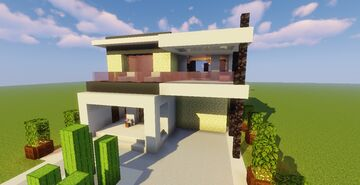 Modern House #119  (Map + Schematic) Minecraft Map & Project