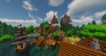 Telgärd with Shaders Minecraft Map & Project