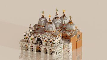 San Marco Basilica, Venice 1:1 recreation Minecraft Map & Project
