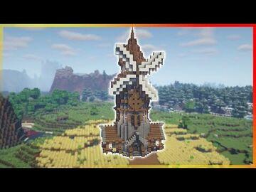 ⚒️ Minecraft: Large Windmill Minecraft Map & Project