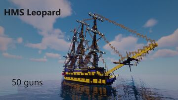 HMS Leopard (1790) 4th rate ship of the line Minecraft Map & Project