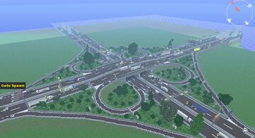 Realistic Highway Interchange by Anderbest  MC VERSION:1.12.2 JAVA EDITION!!! Minecraft Map & Project