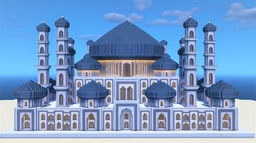 ULTRA MODERN LARGE MOSQUE Minecraft Map & Project