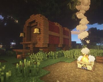 Old Traveller's Wagon Minecraft Map & Project