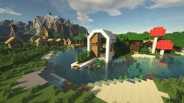 Modern Lakeside House Minecraft Map & Project
