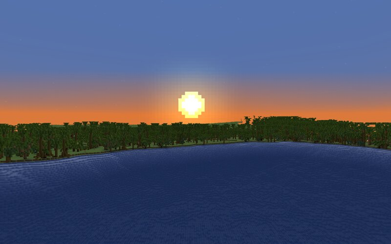 A beautiful sunset before I added kelp, seagrass etc