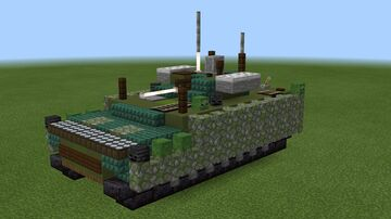 1.5:1 scale BMP and BTR Kurganets-25 Minecraft Map & Project