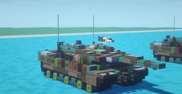 Leopard 2A6 Tank (2-1 scale) Minecraft Map & Project