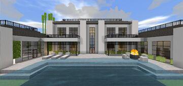 Modern Mansion 5 - Quartz House Minecraft Map & Project