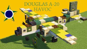 Douglas A-20 Havoc Minecraft Map & Project
