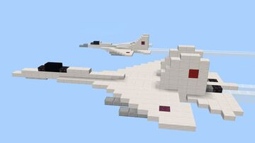 Sukhoi SU-27 Flanker Minecraft Map & Project