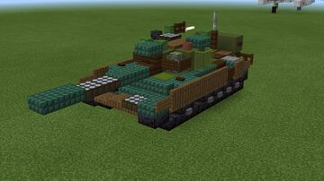 1.5:1 scale T-55AM Minecraft Map & Project