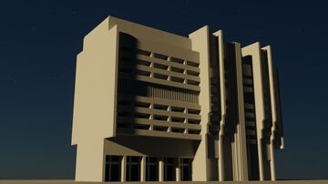 USSR Brutalist Building Minecraft Map & Project