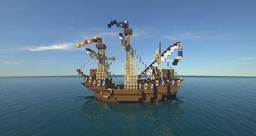 "Medieval Ship large Hulk ""Torkerath"" Minecraft Map & Project"