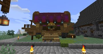 Large Gypsy Wagon Minecraft Map & Project