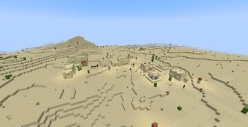Desert Village and temple Minecraft Map & Project