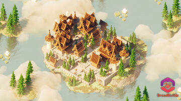 Medieval Server Hub ❯ Brown Spawn Minecraft Map & Project