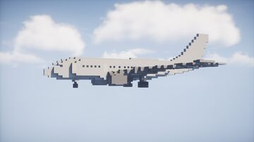 Airbus A300B1   1:1 Scale Minecraft Map & Project