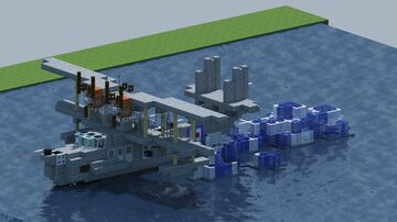 Supermarine Stranraer, flying boat. [With Download] Minecraft Map & Project