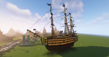 HMS Victory 1:1 Scale Minecraft Map & Project