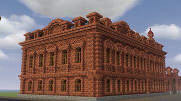 Русский кирпичный купеческий дом (Russian brick merchant house) Minecraft Map & Project