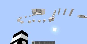 WHITE BLOCK PARKOUR Minecraft Map & Project