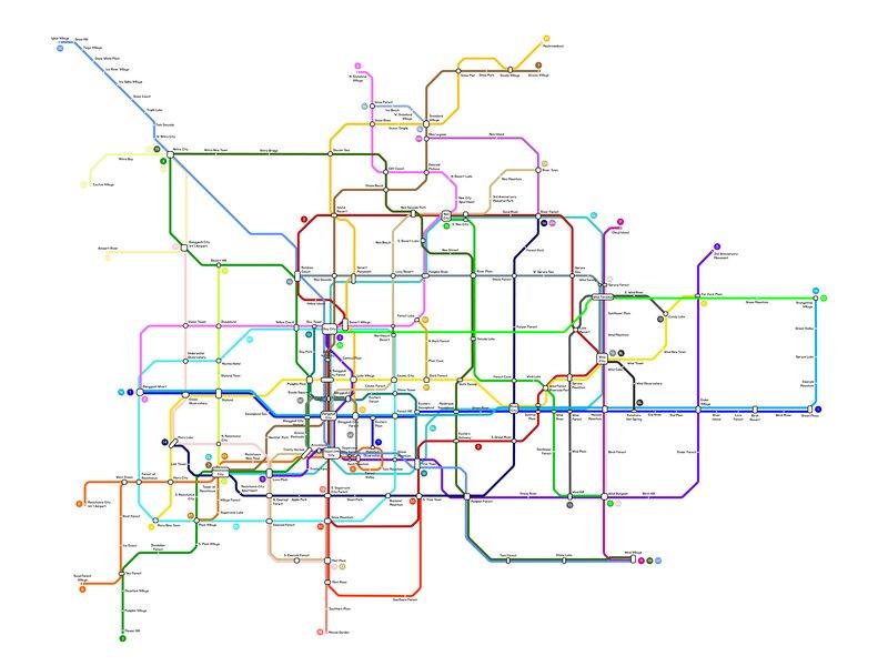 Subway map of my world Capital region