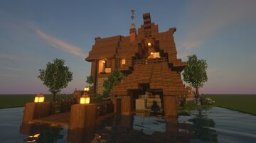 LMC Medieval -  Waterside Wool & Banner shop Minecraft Map & Project