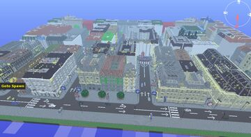 Old City Center DIORAMA REALISTIC by Anderbest Minecraft Map & Project