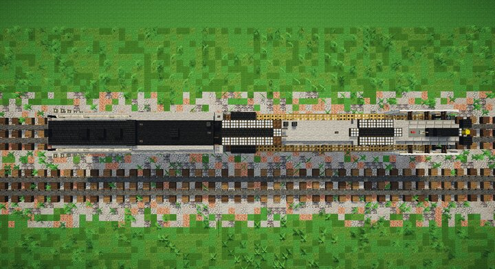 Top view of the train