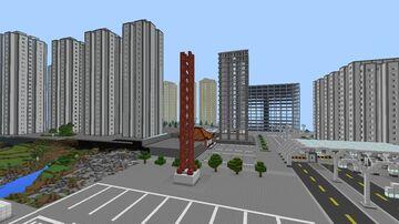 Hunan City China 湖南市 Minecraft Map & Project