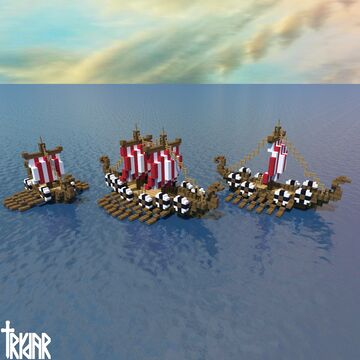 Viking Ships +tutorial Minecraft Map & Project