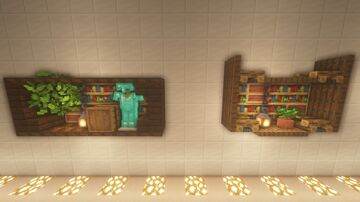 |Build Hack| 8 Ideas For Minecraft Lockers! Minecraft Map & Project