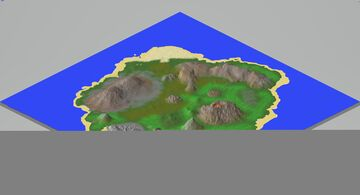 Volcanic Island 2kX2k 1.16.5 Minecraft Map & Project