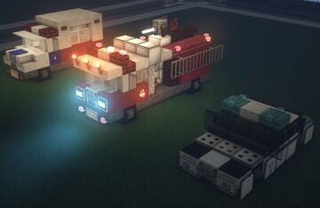 Modern Emergency Vehicles Minecraft Map & Project