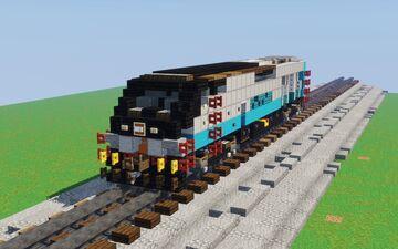 1.5:1 SCAX Metrolink EMD F125 Minecraft Map & Project