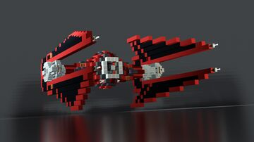 Star Wars - First Order TIE Baron Space Superiority Interceptor Minecraft Map & Project