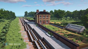 Small Victorian Train Station - Blake Hall Minecraft Map & Project