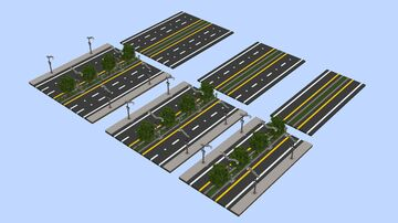 Roads, Intersection, Highways Wecahop Minecraft Map & Project