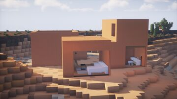 Minimalist Desert Modern House Minecraft Map & Project