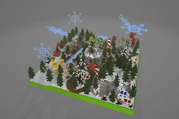 ⛄WINTER HCF SPAWN ⛄ Minecraft Map & Project