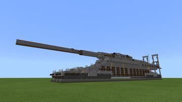 Schwerer Gustav Railway gun Minecraft Map & Project