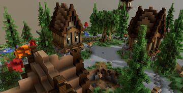 HCF Spawn + Road ~ Village Theme 123x123 Minecraft Map & Project