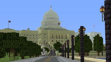 United States Capitol Building + National Mall Minecraft Map & Project