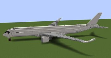 Airbus A350-900/-1000 (1.5:1 scale - introduced new model) Minecraft Map & Project