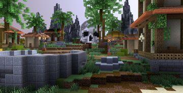 Spawn / Hub ~ Tropical Island 261 x 261 Minecraft Map & Project