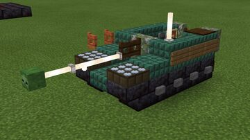 1.5:1 scale ASU-57 airborne tank destroyer Minecraft Map & Project