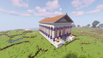 I made a building tutorial for my Greek Temple that I had previously made in a timelapse video on my YouTube channel Minecraft Map & Project