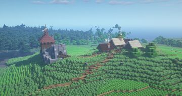 Tönneberk Keep and Village (+Landscape) Minecraft Map & Project